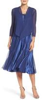 Komarov Petite Women's Embellished A-Line Dress & Jacket