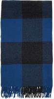 Rag & Bone Blue Wool Buffalo Plaid Scarf