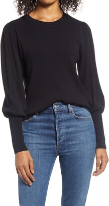 Halogen Puff Sleeve Sweater
