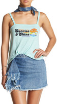 Sugar Sleeveless Graphic Print Tank