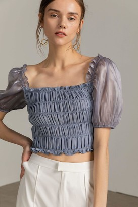 J.ING Jasmine Blue Crop Top