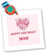 3dRose LLC Ice Bucket - Birthday - Happy Birthday Mom You are the best with image of the Heart - (qs_211219_10)
