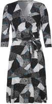 Yumi Mono Pop Wrap Dress