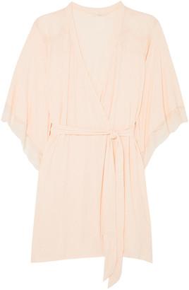 Eberjey Esperanza Lace-trimmed Stretch-modal Jersey Robe