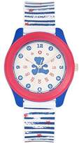 Lulu Castagnette Girl's Quartz Watch with White Dial Analogue Display and Plastic Bicolour - G38002