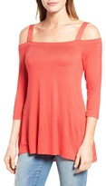 Bobeau Women's Off The Shoulder Top
