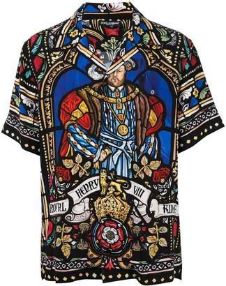Dolce & Gabbana Henry VIII print Hawaiian shirt