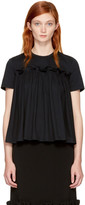 Edit Ssense Exclusive Black Gathered T-shirt