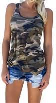 YJWAN Womens uflage Casual T Shirt Military Sleeveless Tanks Top Vest