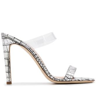 Giuseppe Zanotti Crocodile-Effect 105mm Sandals