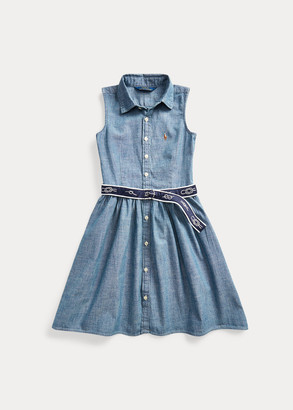 Ralph Lauren Belted Chambray Shirtdress