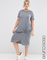 Asos Knot Front Midi Dress
