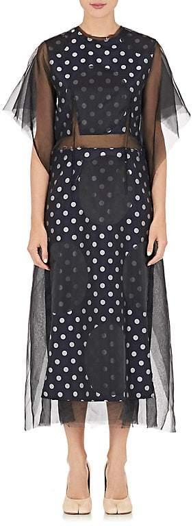 Maison Margiela WOMEN'S DECONSTRUCTED ORGANZA & JACQUARD DRESS