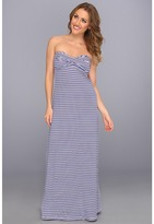 Tommy Bahama Mingling Stripes Long Bandeaux Dress Cover-Up (Surf Blue Multi) - Apparel