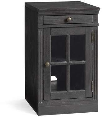 Pottery Barn Livingston Single Glass Door Cabinet, Dusty Charcoal