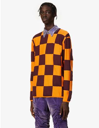 Comme des Garcons Checked crewneck wool-blend jumper