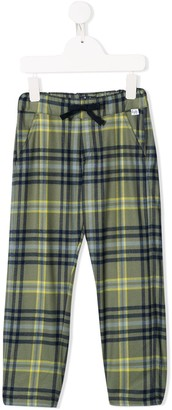 Il Gufo Plaid Style Casual Trousers