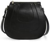 Sole Society Korah Faux Leather Saddle Bag - Black