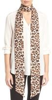 Cara Women's Cheetah Print Skinny Scarf