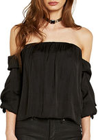 Bardot Caught Sleeve Bustier Off-the-Shoulder Blouse
