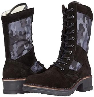 Fly London TORO036FLY (Black Suede) Women's Shoes