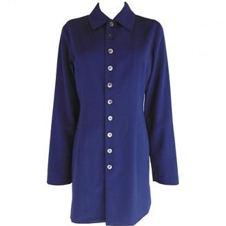 Comme des Garcons Navy Wool Dresses