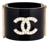 Chanel Faux Pearl CC Resin Cuff