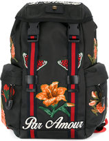 Gucci embroidered technical backpack