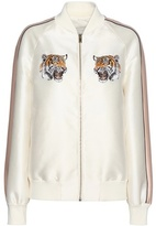 Stella McCartney Lorinda Embroidered Cotton And Silk-blend Bomber Jacket