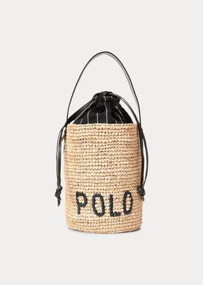 Ralph Lauren Raffia Mini Bucket Bag