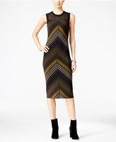Rachel Roy Illusion Printed Sweater Dress