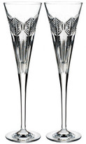 Waterford Crystal Times Square 2018 Clear Flute Pair