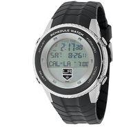 Game Time Los Angeles Kings Silver Tone Digital Schedule Watch - NHL-SW-LA - Men