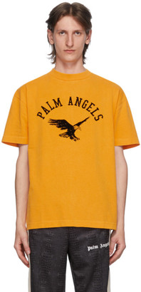 Palm Angels Yellow College Eagle T-Shirt