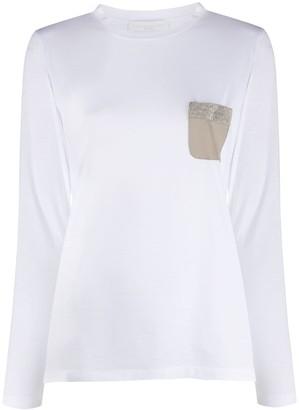 Fabiana Filippi contrast chest pocket T-shirt