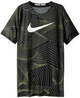 Nike Pro Short Sleeve Printed Training Top Boy's Clothing
