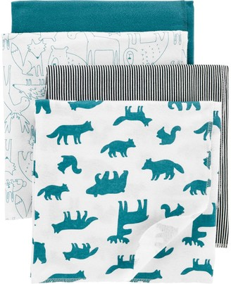 Carter's Baby Boy 4-Pack Receiving Blankets