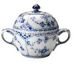 Royal Copenhagen Blue Fluted Half Lace Sugar Bowl