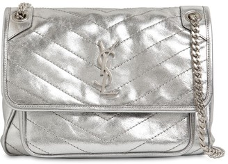 Saint Laurent NIKI MONOGRAM METALLIC LEATHER BAG