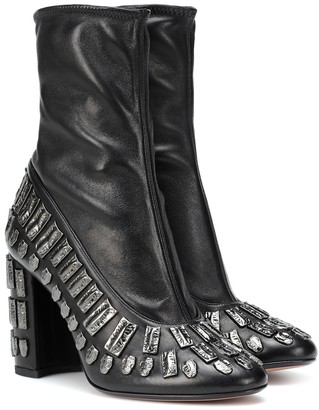 Samuele Failli Exclusive to Mytheresa a Bea embellished leather ankle boots