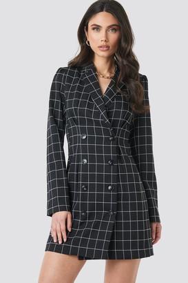 NA-KD Big Check Blazer Dress