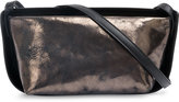 Ann Demeulemeester metallic bicolour shoulder bag - women - Leather - One Size