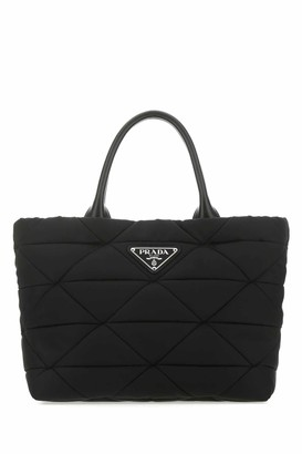 Prada Triangle Quilted Small Tote Bag