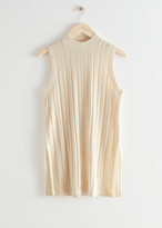 Thumbnail for your product : And other stories Ribbed Side Slit Knit Top