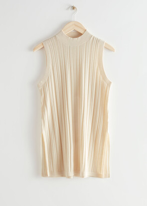 And other stories Ribbed Side Slit Knit Top