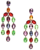 Tresor Collection - Multicolor Tourmaline And Diamond Earring In 18K Yellow Gold