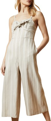 Ted Baker Daceyy Metallic Detail Stripe Jumpsuit