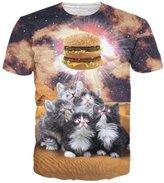 Raisevern Womens Print Short Sleeve Crewneck T-shirts Tops M