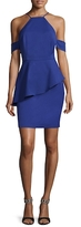 Alexia Admor Cold-Shoulder Peplum Dress