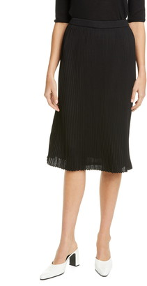St. John Fluid Viscose Plisse Knit Skirt